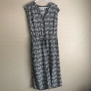 Old navy cropped button down wideleg jumpsuit